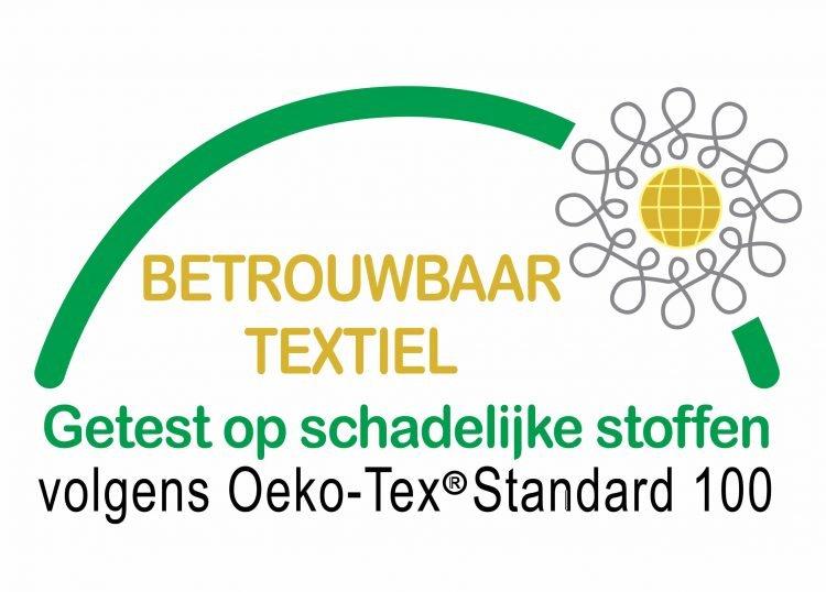 Droommatras heeft het keurmerk Oeko-Tex Standard 100 op de stoffen van alle matrassen